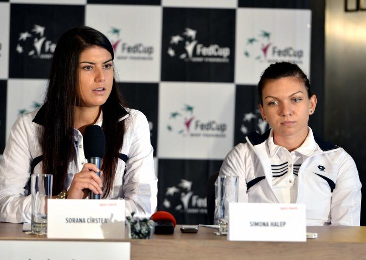 Sorana Cîrstea - Ana Ivanovici, în primul meci al întâlnirii România - Serbia
