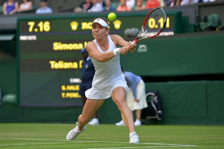 Wimbledon: Simona, victorie în aproape o oră