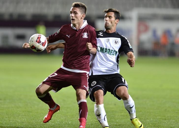 Liga I: Rapid Bucureşti - Universitatea Cluj, scor 2-1