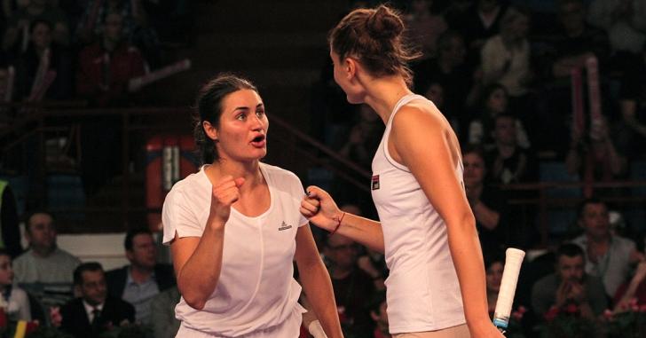 WTA Roma: Două din trei, la dublu