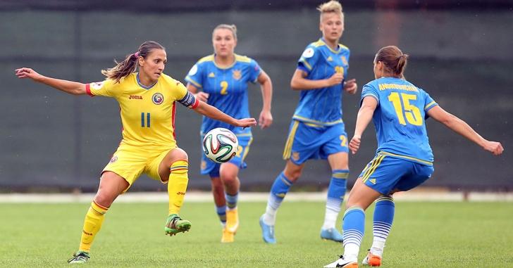 Fotbal feminin: România - Ucraina 2-1, în preliminariile Euro 2017