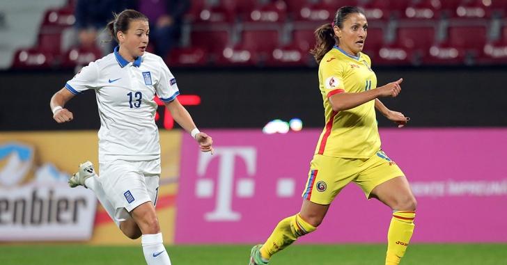Fotbal feminin: România - Grecia 4-0, tricolorele merg la baraj