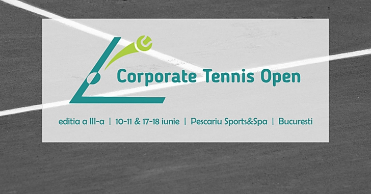 Reprezentanții mediului de afaceri din România concurează la turneul Corporate Tennis Open