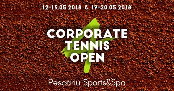 Reprezentanții mediului de business concurează pentru un loc pe podiumul Corporate Tennis Open 4