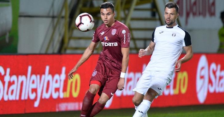 Liga 1: CFR învinge la Giurgiu și urcă pe locul 2