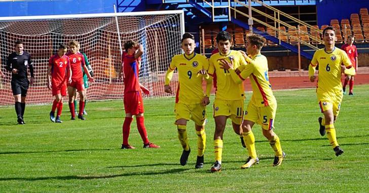 România U15 a câștigat și al doilea meci contra Moldovei