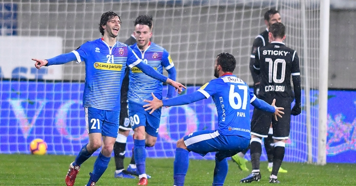 Liga 1: Fabbrini și rabona lui Roman îi stopează pe olteni