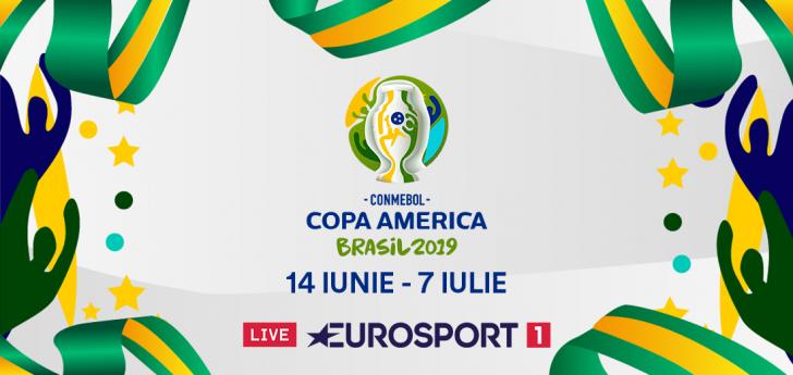 Din 14 iunie, Eurosport transmite în exclusivitate Copa America 2019