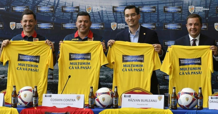 Timișoreana a devenit sponsor al echipei naționale