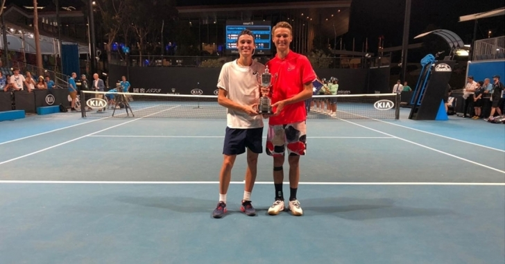 Nicholas David Ionel, campion la Openul Australiei, la juniori, alaturi de elvetianul Leandro Reidi
