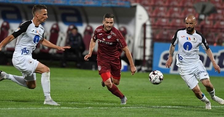 Liga 1: Victorie fără emoții și fără spectacol pentru CFR Cluj