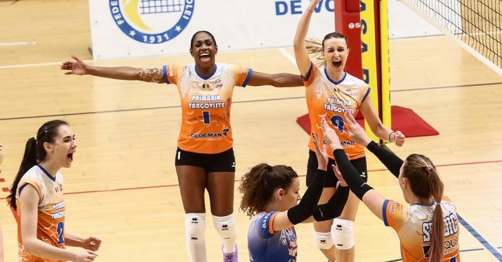 DA1F: Târgoviștencele câștigă dramatic derby-ul cu CSM Volei Alba Blaj