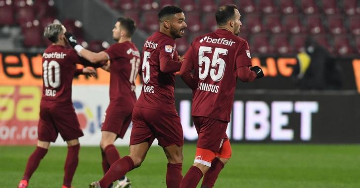 Liga 1: Vinicius, din nou decisiv pentru CFR Cluj