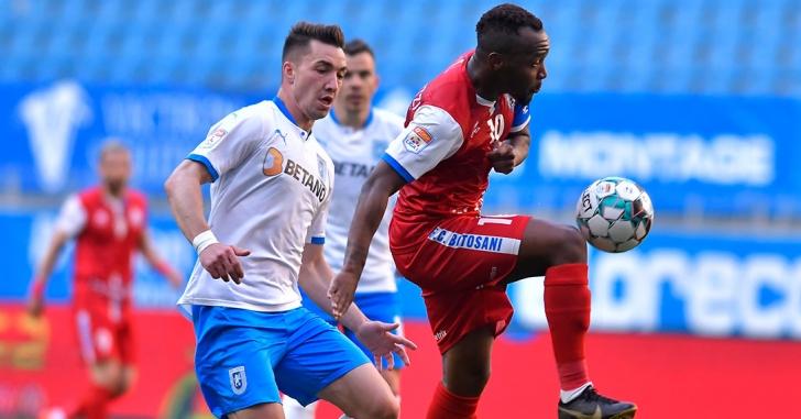 """Liga 1: Tensiune, trei eliminări și victorie a oaspeților pe """"Ion Oblemenco"""""""