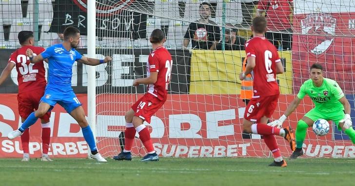 Liga 1: Colaborarea dintre Florea și Daniel Popa aduce trei puncte pentru Chindia