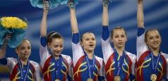 Echipa feminină de gimnastică, locul 2 la triunghiularul cu Germania şi Elveţia de la Obersiggenthal