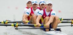Echipajul masculin de patru rame fără cârmaci, locul 3 la Lucerna