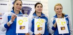 Oana Manea, Iulia Curea și Mica Brădeanu, ambasadoare ale handbalului în școli