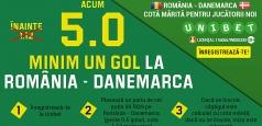 Profită de cota 5.00 pentru gol marcat la România – Danemarca!