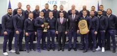 Naționala de rugby, primită la MTS