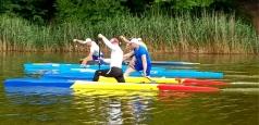 Lotul olimpic de canoe a ieșit pe apă după două luni de antrenamente solitare, acasă