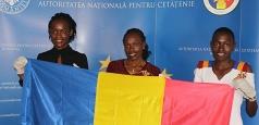 Kenyencele Joan Chelimo, Stella Ruto și Delvine Meringor au primit azi cetățenia română