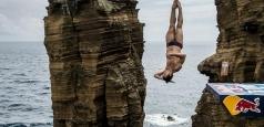 Constantin Popovici, locul doi la etapa de Red Bull Cliff Diving de la Downpatrick Head